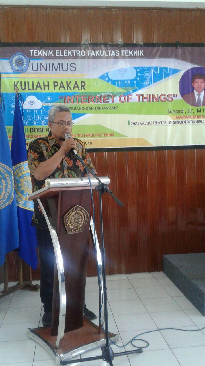 Kuliah Dosen Pakar Teknik Elektro Fakultas Teknik Unimus.