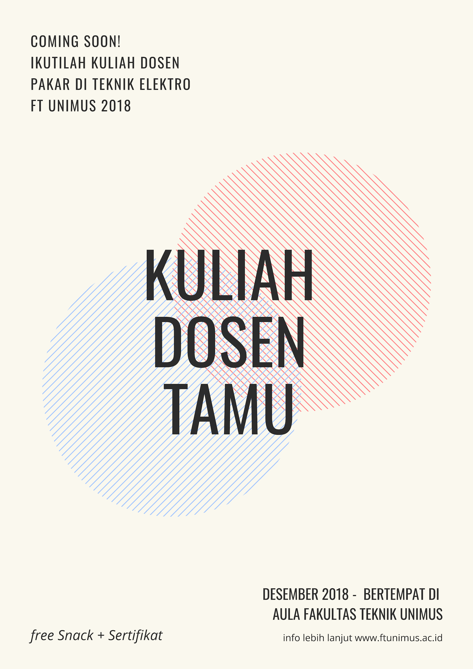 ComingSoon- Kuliah Dosen Pakar Teknik Elektro -Ft Unimus - Desember 2018