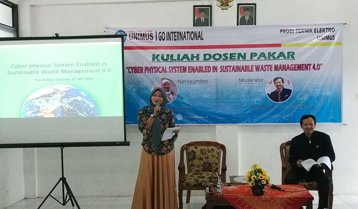 Pembicara  Yun Arifatul Fatimah , M.T, Ph.D