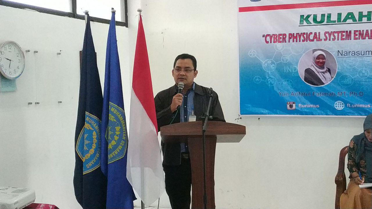 Sambutan Dekan FT UNimus Dr.RM. Bagus Irawan, Msi, IPM