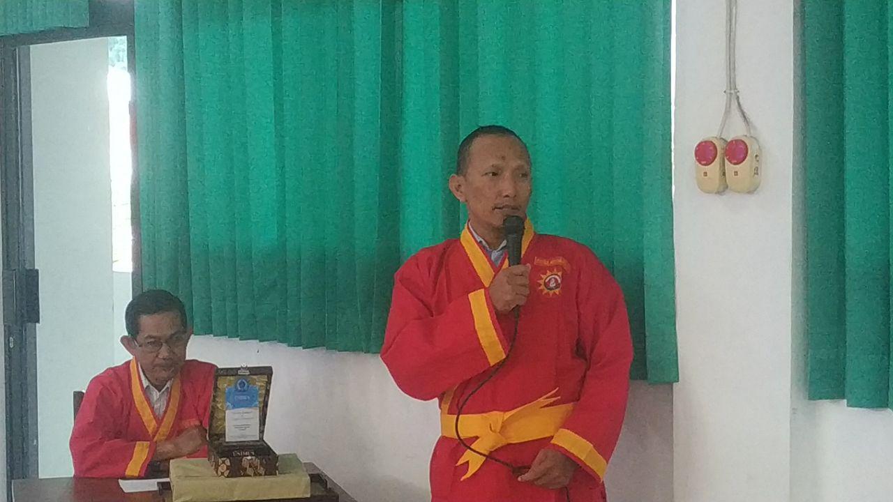 sambutan ketua panitia Dr.Purnomo, M.Eng. dalam acara ujian kenaikan pangkat tapak suci di ft unimus 2019