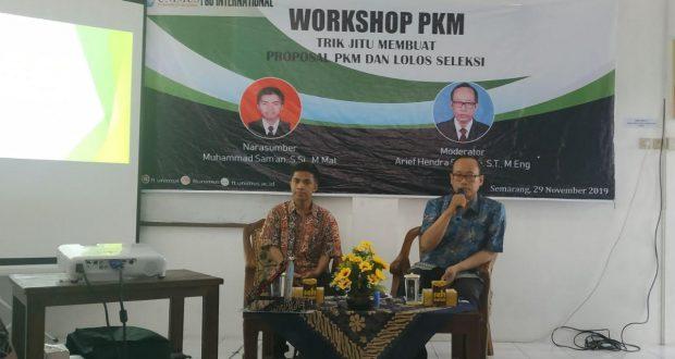 pembicara dan moderator workhsop pkm ft unimus 2019